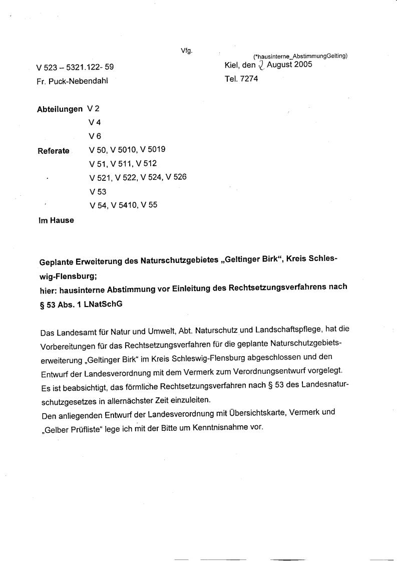 Erweiterung des Naturschutzgebietes Geltinger Birk