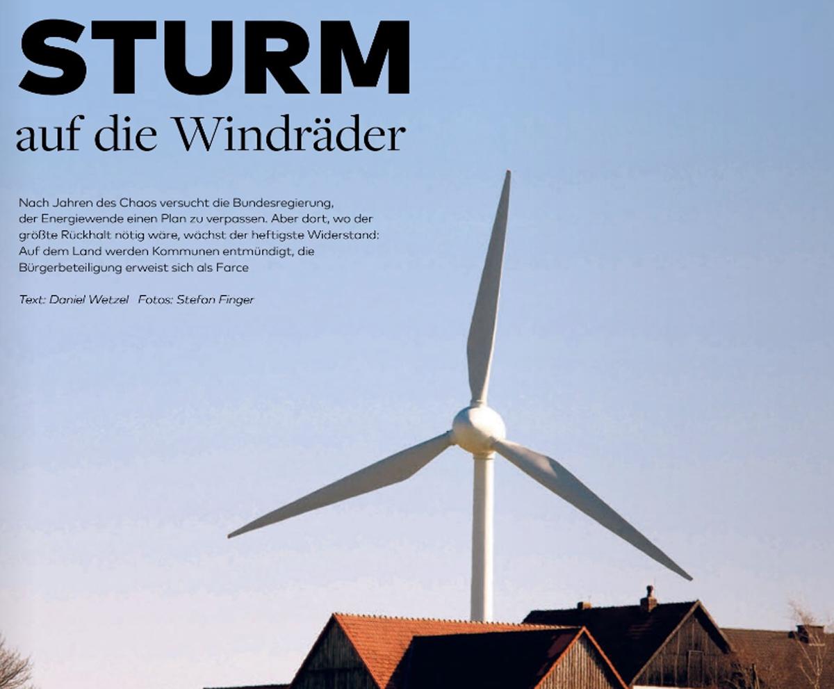 Sturm auf die Windräder